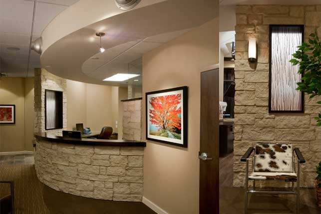 Endodontics office architecture and interior design for Dental office interior design